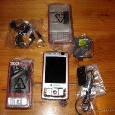 Segunda Mano: MOVIL NOKIA N95 LIBRE CON CAJA, MANUAL, CARGADOR AURICULARES Y TECLADO DE RECAMBIO. Lote 43441609