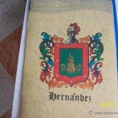Segunda Mano: TELA CON EL NOMBRE Y EL ESCUDO DE HERNANDEZ. BAZAR SAN JUAN.. Lote 45123133