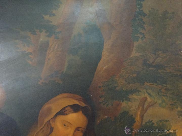 Segunda Mano: PAPEL SOBRE LIENZO VIRGEN CON NIÑO - 1000-043 - Foto 7 - 43428731
