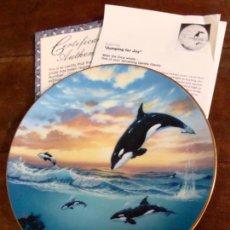 Segunda Mano: PRECIOSO PLATO DE COLECCIÓN W.S GEORGE 1991 ORCA SALTANDO DE ALEGRÍA 1991. Lote 45649252