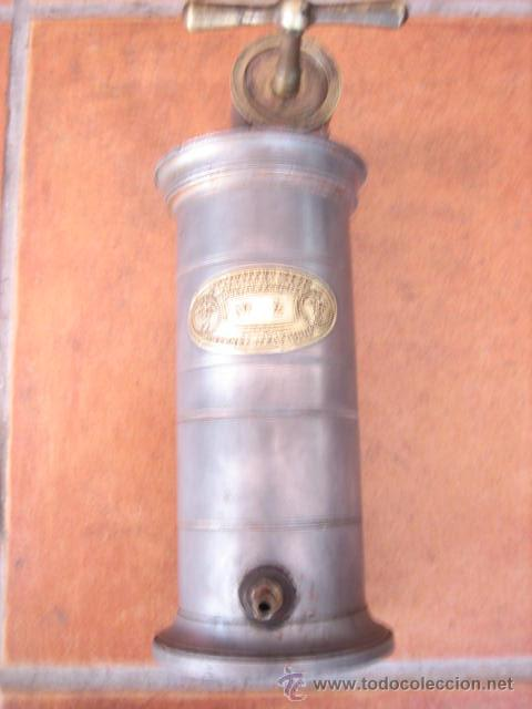 Segunda Mano: Antiguo depósito de lavativa metálico E.Irrigareur syst Doctor EGUISIER Nº 2 Frances. - Foto 2 - 45767124
