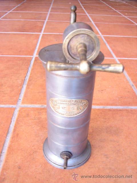 Segunda Mano: Antiguo depósito de lavativa metálico E.Irrigareur syst Doctor EGUISIER Nº 2 Frances. - Foto 5 - 45767124