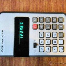 Segunda Mano: CALCULADORA HOMELAND 8008 FUNCIONANDO. Lote 45911281