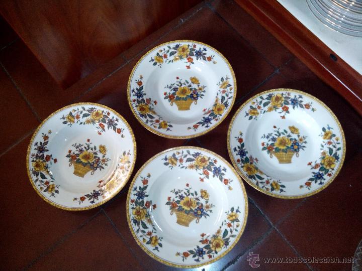 4 Platos Con Motivos Florales De Porcelana La C Comprar