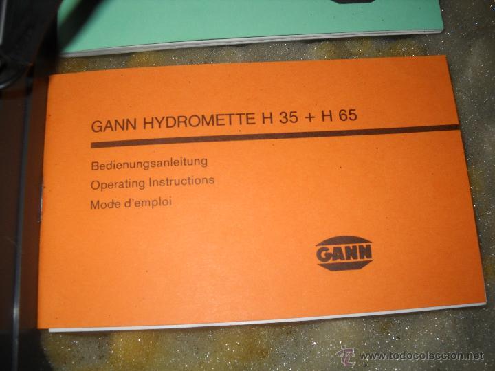 Segunda Mano: HIGROMETRO GANN H 65, FUNCIONANDO PERFECTAMENTE,OCASION.ALTA CALIDAD PROFESIONAL,VER FOTOS. - Foto 4 - 46744407