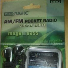 Segunda Mano: MINI RADIO AM/FM DIAL PROBASIC. BASS. STEREO NUEVA. Lote 47080286