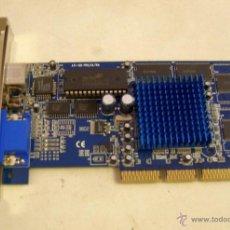 Segunda Mano: TARJETA VÍDEO AGP 4X ATI 128 PRO ULTRA - 32 MB RAM. Lote 47330429