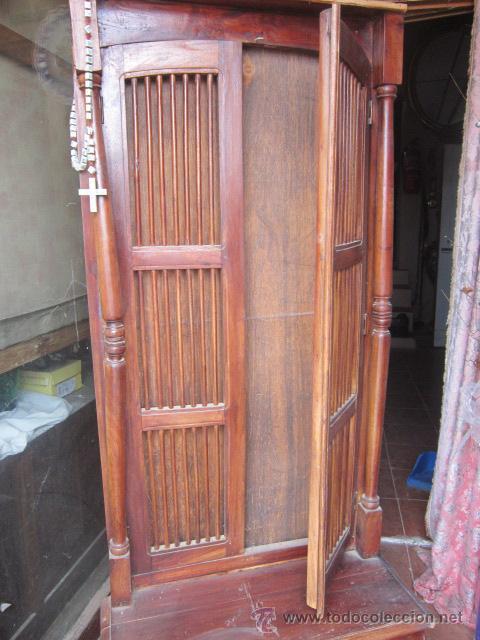 mueble de entrada indio en madera de teka con comprar