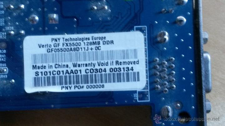 Segunda Mano: Tarjeta Gráfica PNY con drivers modelo verto gf fx5500 128MB DDR - Foto 3 - 48631790