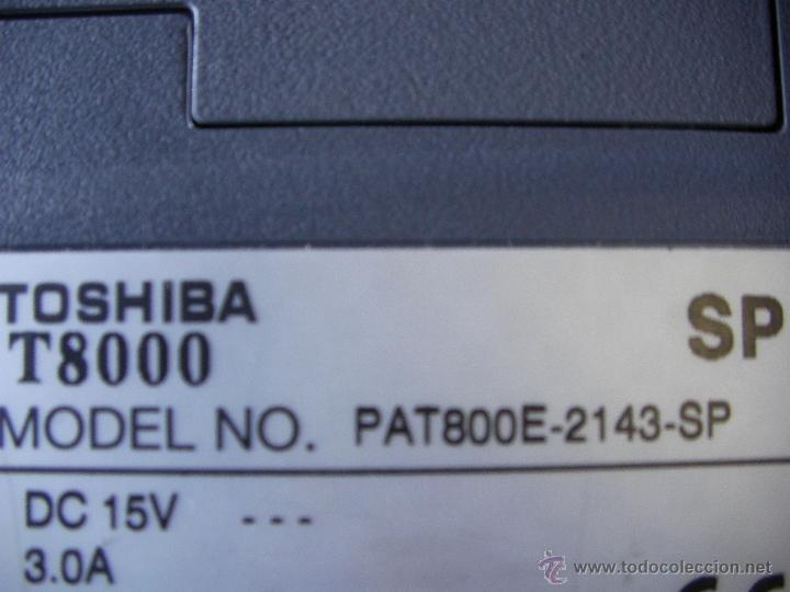 Segunda Mano: ANTIGUO PORTATIL TOSHIBA T-8000 SP FUNCIONANDO CON ACCESORIOS DIVERSOS Y MALETIN - Foto 4 - 49128343