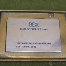 Segunda Mano: BANDEJA METALICA DE PUBLICIDAD : BEX - BANCO EXTERIOR DE ESPAÑA - 1991.. Lote 49260355