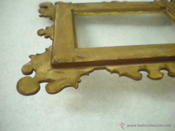 Segunda Mano: Marco ,dorado y estuco.Medida interior 30,8x45,8 exterior 63 x 78 cm. - Foto 4 - 49403626