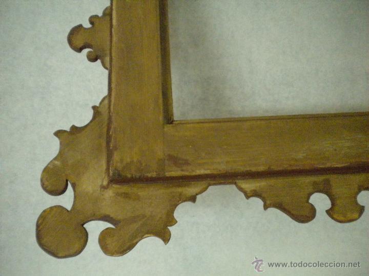 Segunda Mano: Marco ,dorado y estuco.Medida interior 30,8x45,8 exterior 63 x 78 cm. - Foto 5 - 49403626