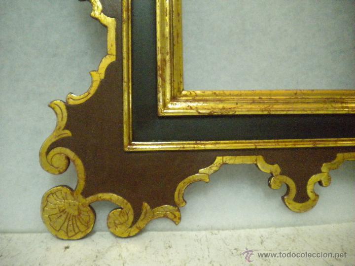 Segunda Mano: Marco ,dorado y estuco.Medida interior 30,8x45,8 exterior 63 x 78 cm. - Foto 6 - 49403626