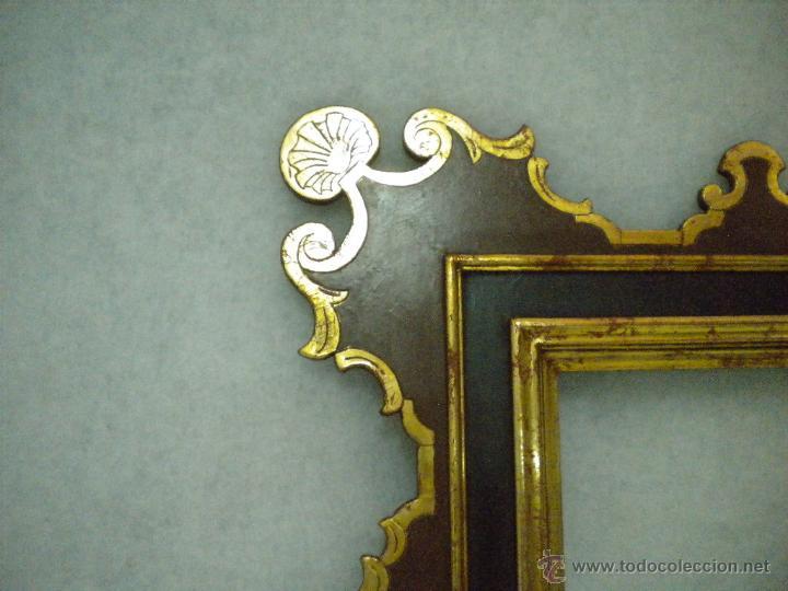 Segunda Mano: Marco ,dorado y estuco.Medida interior 30,8x45,8 exterior 63 x 78 cm. - Foto 7 - 49403626