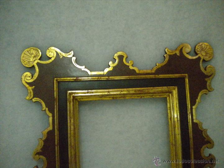 Segunda Mano: Marco ,dorado y estuco.Medida interior 30,8x45,8 exterior 63 x 78 cm. - Foto 8 - 49403626