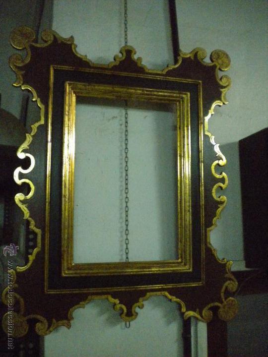 Segunda Mano: Marco ,dorado y estuco.Medida interior 30,8x45,8 exterior 63 x 78 cm. - Foto 10 - 49403626