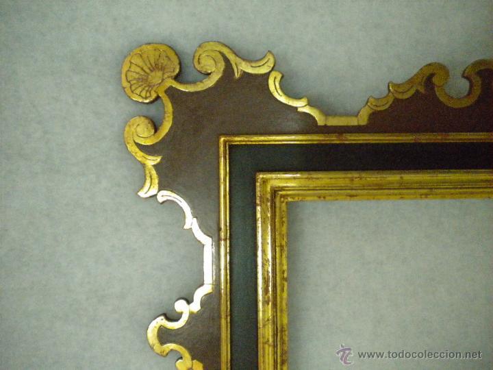 Segunda Mano: Marco ,dorado y estuco.Medida interior 30,8x45,8 exterior 63 x 78 cm. - Foto 11 - 49403626