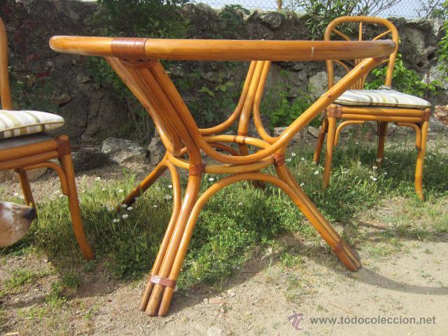 Conjunto de mimbre compuesto por mesa y dos sil comprar art culos de segunda mano de hogar y - Mesas de mimbre ...