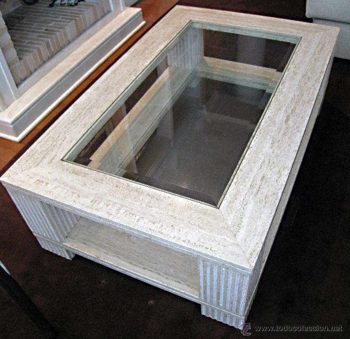 Mesas de marmol y cristal mesa cristal y mrmol com mesa for Mesa centro segunda mano