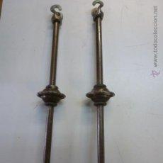 Segunda Mano: LOTE 2 GANCHOS DE HIERRO 40 CM DE LONGITUD. Lote 49909391