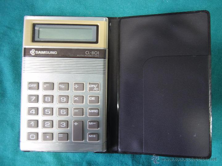 CALCULADORA SANSUNG CL 801. NO FUNCIONA (Segunda Mano - Artículos de electrónica)