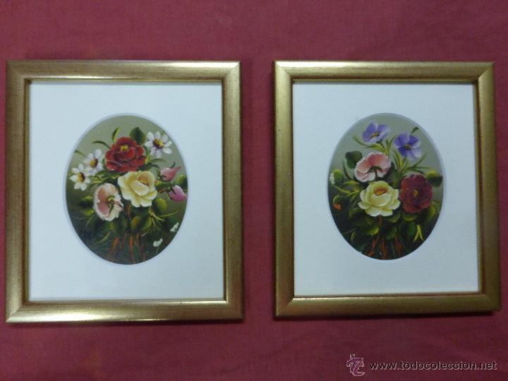 cuadros de autor motivos florales pintados a ma - Comprar artículos ...