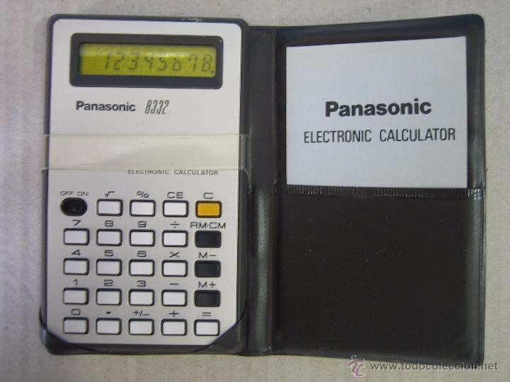 CALCULADORA ELECTRÓNICA PANASONIC 8332. FUNCIONA (Segunda Mano - Artículos de electrónica)
