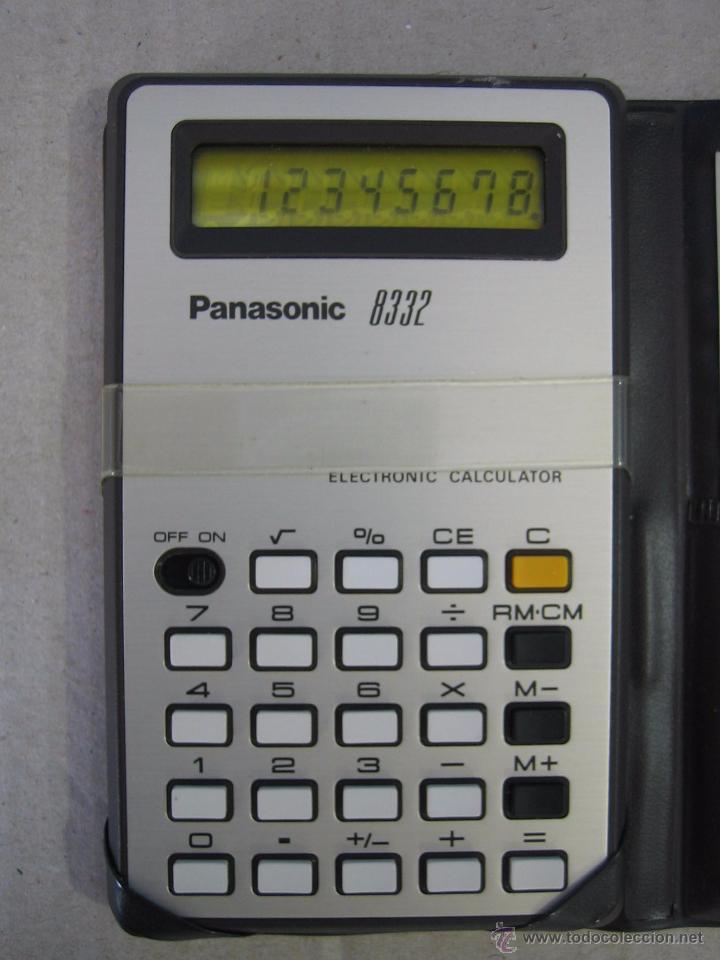 Segunda Mano: Calculadora electrónica Panasonic 8332. Funciona - Foto 2 - 50234921