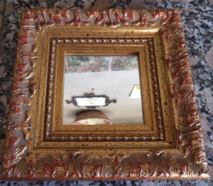 Cuadro espejo con marco dorado envejecido el cu comprar for Espejo segunda mano