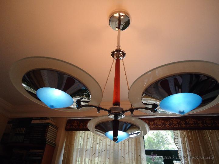 Segunda Mano: LAMPARA METÁLICA Y CRISTAL TRES BRAZOS. IDEAL PARA SALÓN. O SALITÁS. VER DETALLES. - Foto 2 - 50444151