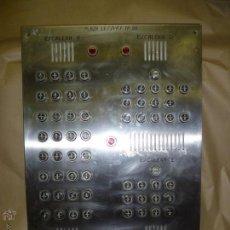 Segunda Mano: PANEL DE ACERO INOXIDABLE CON TIMBRES (VER FOTOS) 43,5 X 58 CM.. Lote 50588797