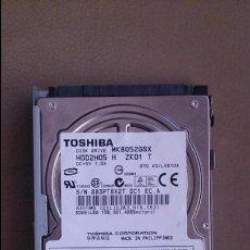 Segunda Mano: DISCO DURO TOSHIBA 80GB CON SOPORTE MK8052GSX. Lote 51178079