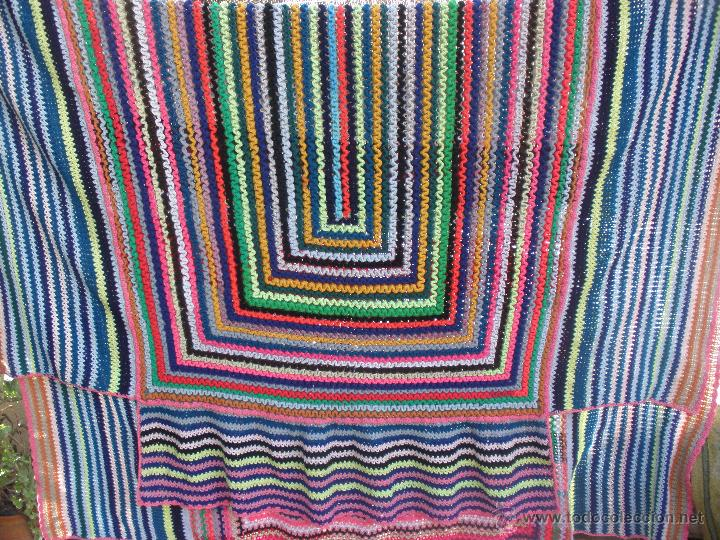 Segunda Mano: Colcha multicolor en ganchillo para cama de 1,20 a matrimonio. Colcha ganchillo - Foto 6 - 51321849
