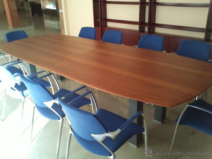 Mesa grande sala de juntas o comedor y 10 silla comprar for Sillas comedor segunda mano