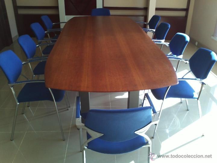 mesa grande sala de juntas o comedor y 10 silla - Comprar artículos ...