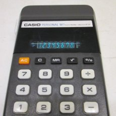 Segunda Mano: ANTIGUA CALCULADORA LEDS VERDES CASIO PERSONAL M1 AÑO 1977. Lote 51966340