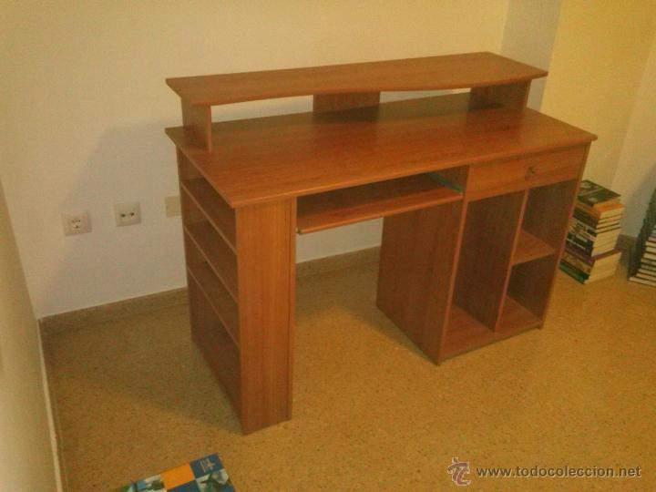 mesa escritorio para ordenador de color cerezo comprar