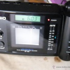 Segunda Mano - TELEVISION COLOR LCD, RADIO, RELOJ, CALENDARIO, DESPERTADOR... CASIO AV-100 AV100 FUNCIONANDO - 52137367