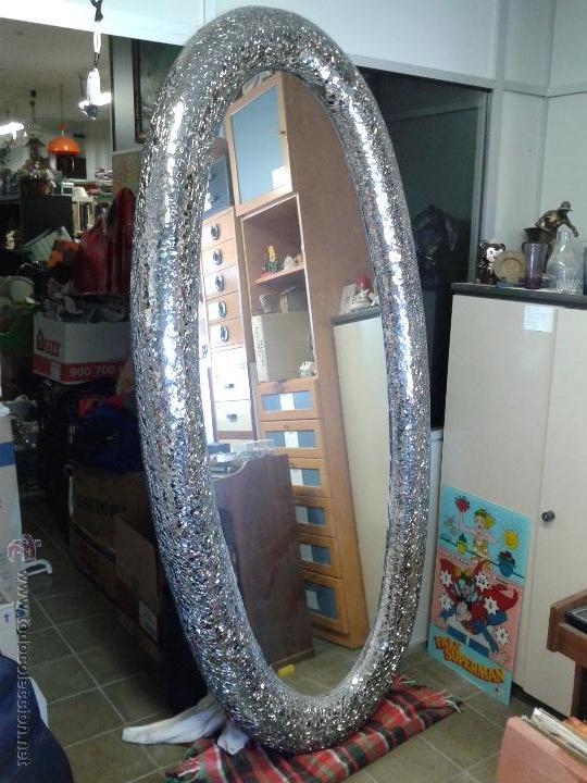 magnifico y grande espejo ovalado de diseo segunda mano hogar y decoracin