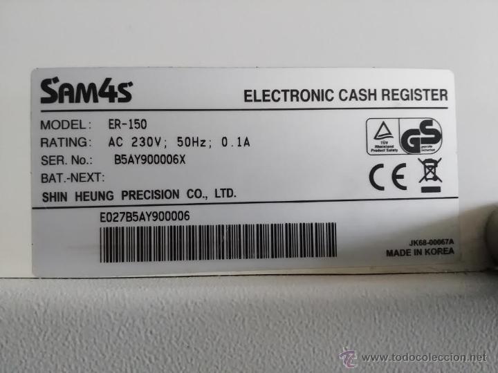Segunda Mano: CAJA REGISTRADORA - SAM4S ELECTRONIC CASH REGISTER - Foto 4 - 52992139