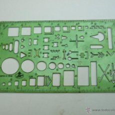 Segunda Mano: REGLA DE PARA SIMBOLOS ELECTRICIDAD FABER CASTELL ESCALA 1:50. Lote 53246983