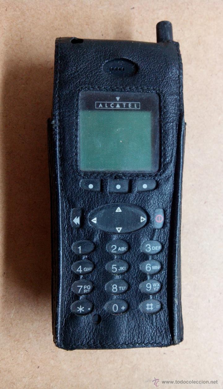 ANTIGUO TELEFONO PORTATIL ALKATEL. MOVISTAR CON FUNDA - NO FUNCIONA (Segunda Mano - Artículos de electrónica)