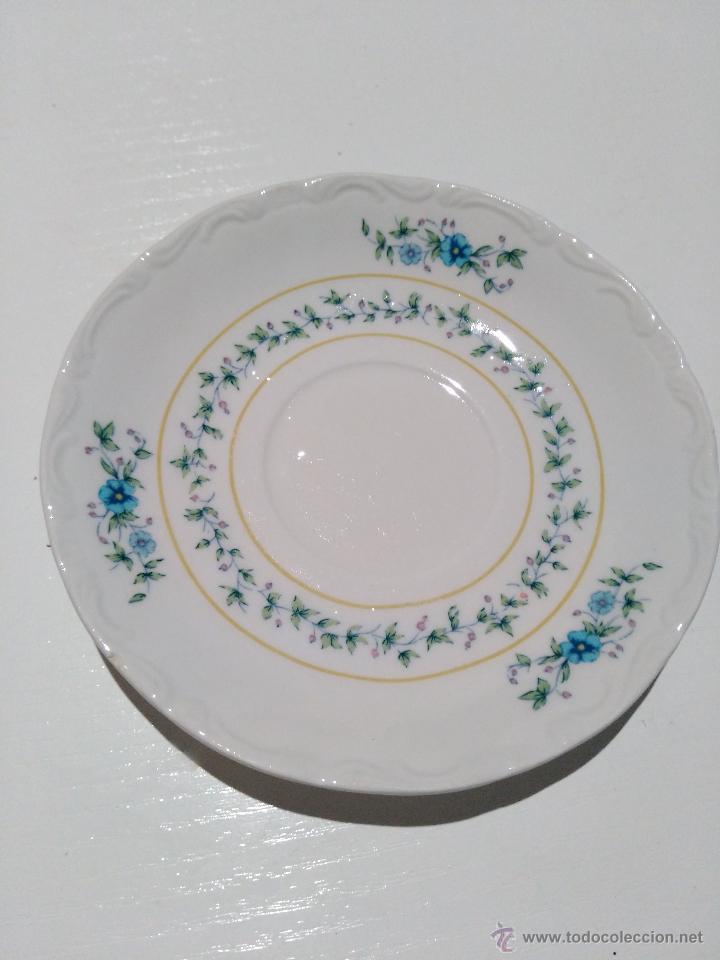 Segunda Mano: 3 platos de café con leche. marca pontesa España total china. garantía de colores inalterables - Foto 4 - 53785010