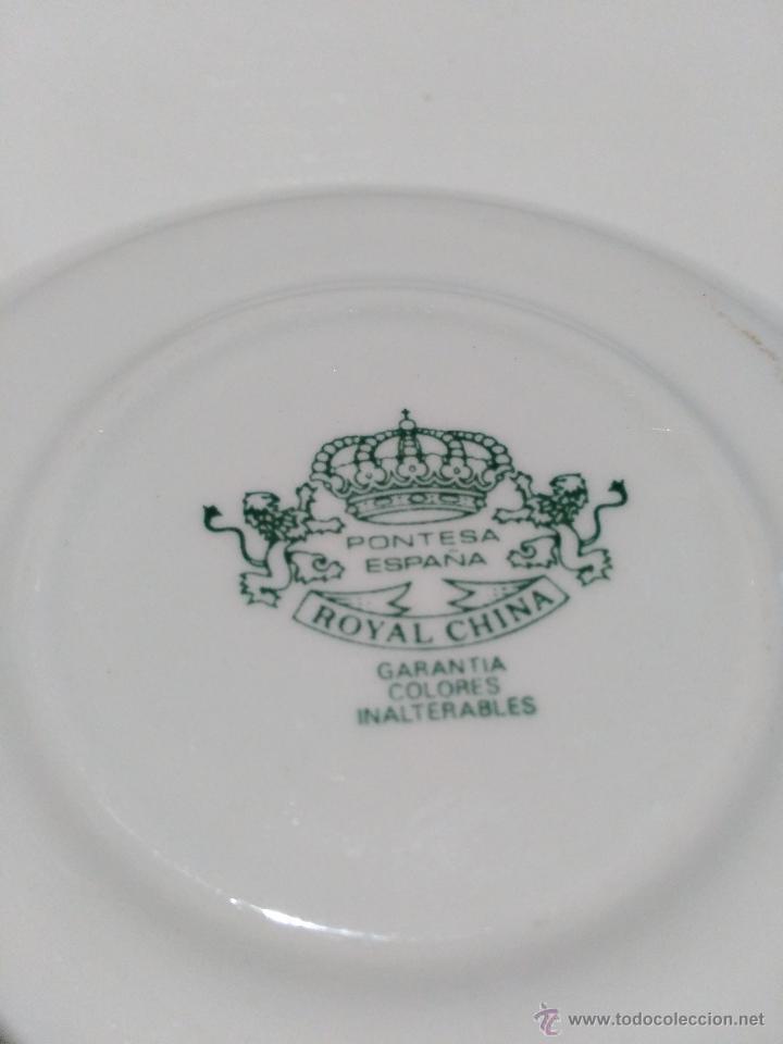 Segunda Mano: 3 platos de café con leche. marca pontesa España total china. garantía de colores inalterables - Foto 5 - 53785010