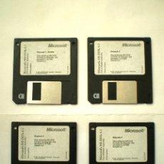 Segunda Mano: MICROSOFT MS-DOS 6.2 LOS 4 DISQUETTES ORIGINALES DE INSTALACIÓN - PERFECTO ESTADO. Lote 53866935