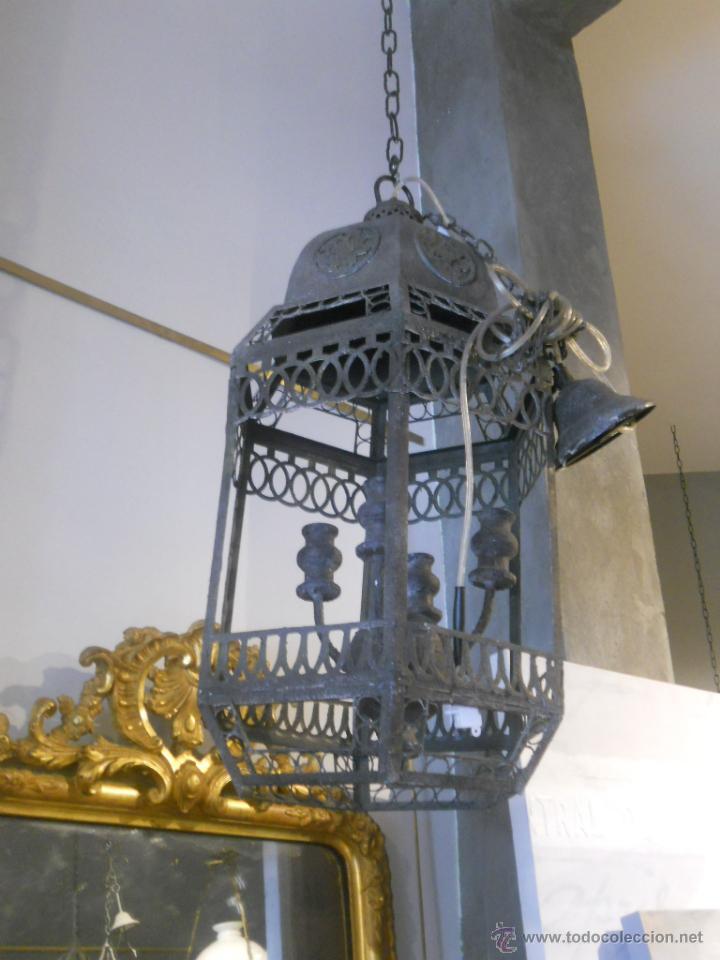 Segunda Mano: FAROL O LAMPARA DE METAL ENVEJECIDO - Foto 2 - 53968580