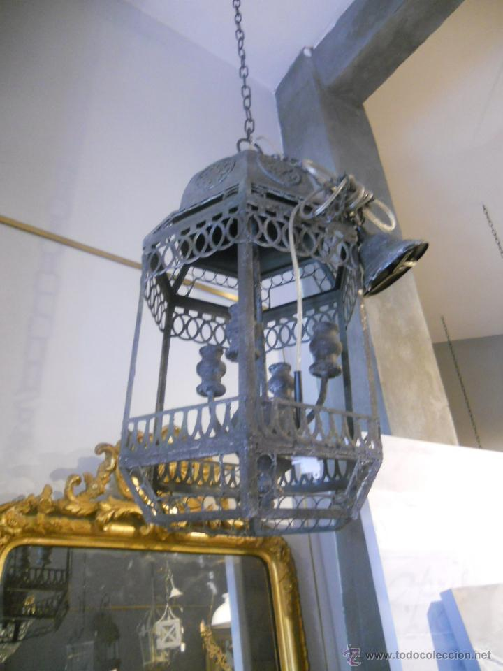 Segunda Mano: FAROL O LAMPARA DE METAL ENVEJECIDO - Foto 3 - 53968580