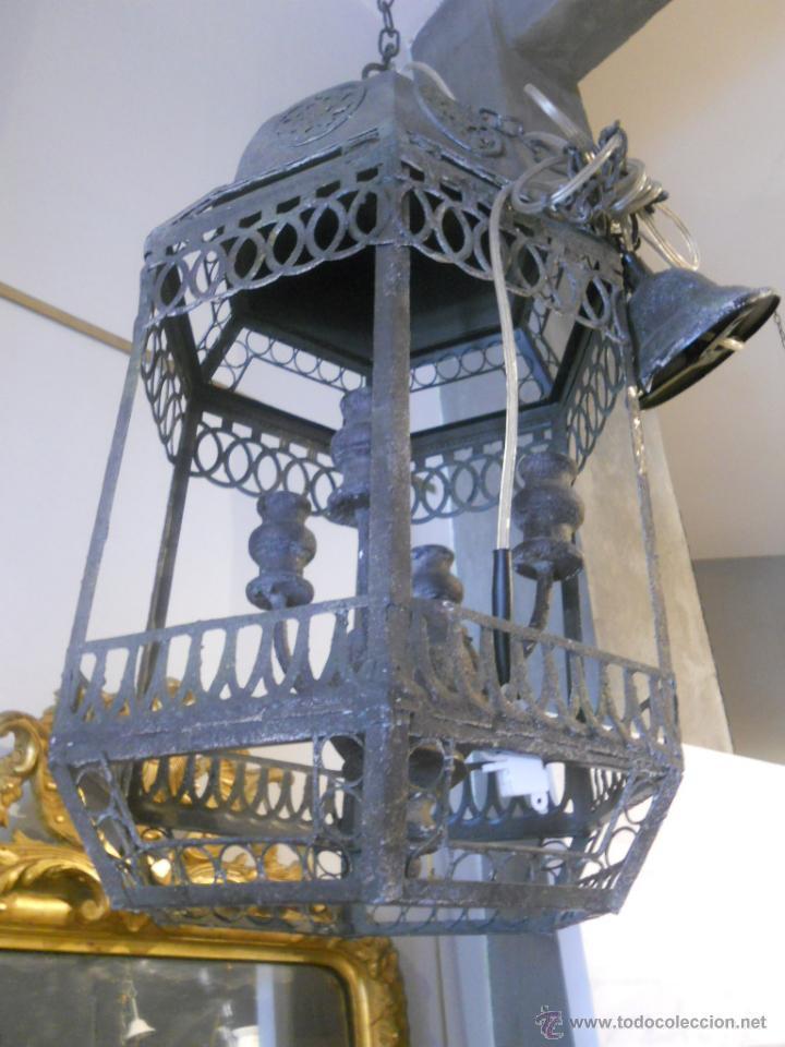 Segunda Mano: FAROL O LAMPARA DE METAL ENVEJECIDO - Foto 4 - 53968580