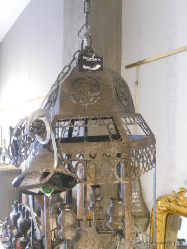 Segunda Mano: FAROL O LAMPARA DE METAL ENVEJECIDO - Foto 6 - 53968580